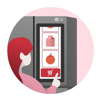 냉장고 안의 식재료를 확인한 후 온라인으로 주문할 수 있도록 도와주는 VPF 엔진 기능