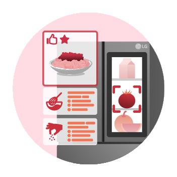 냉장고에 보관된 식재료로 만들 수 있는 조리법을 추천해 주는 VPF 엔진 기능