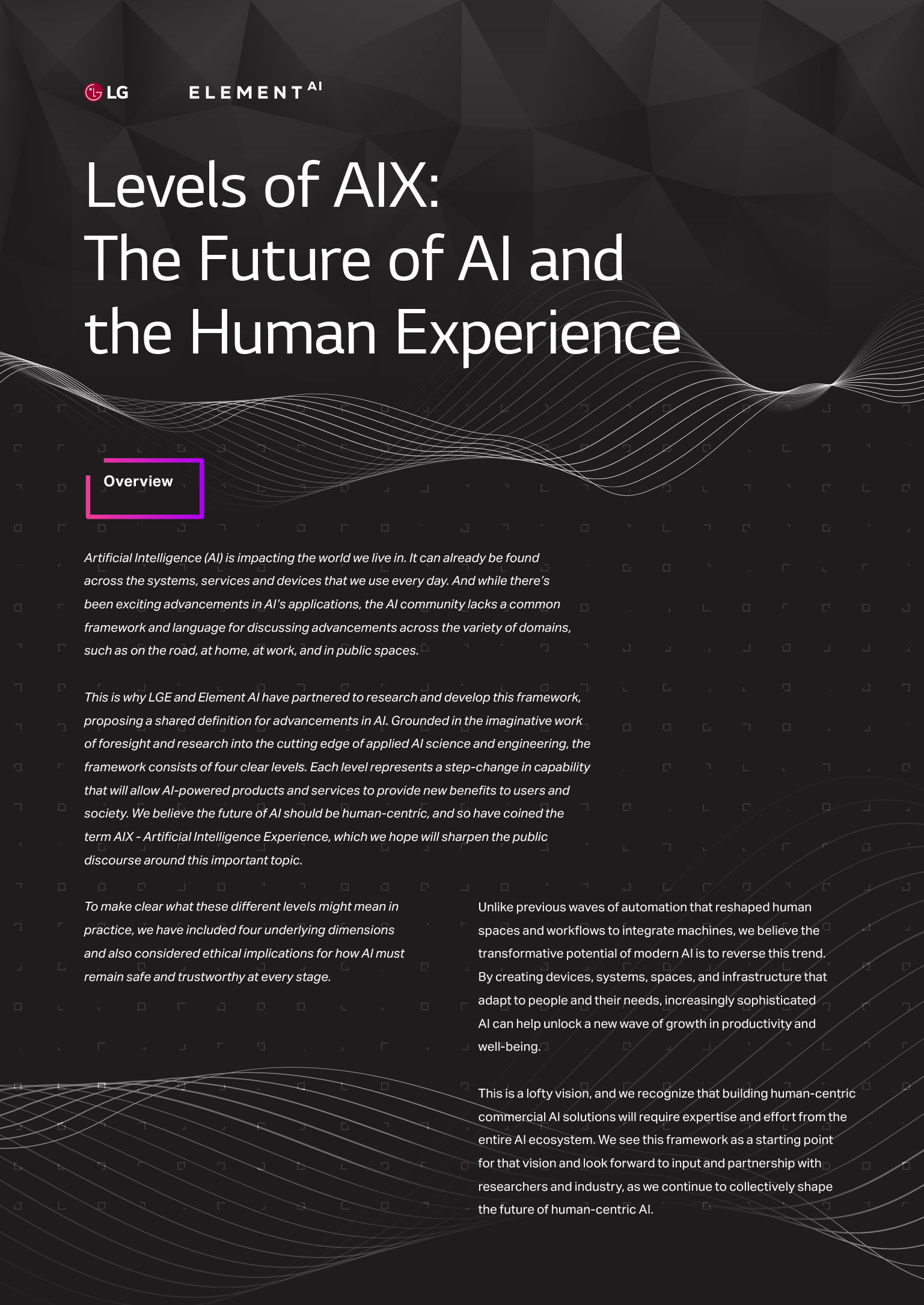Levels of AIX: The Future of AI and the Human Experience