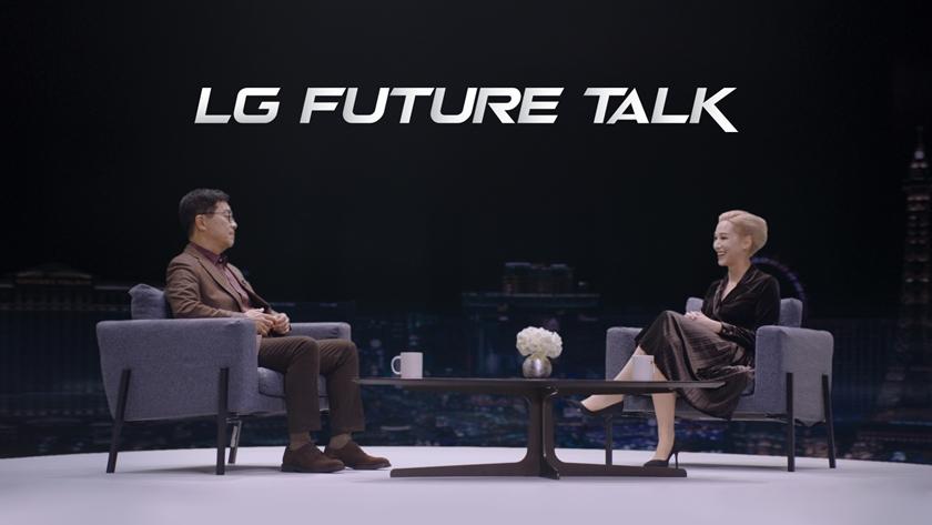 LG전자가 美 동부시간 12일 세계 최대 가전·IT 전시회 'CES 2021'에서 '함께 만드는 혁신'을 주제로 'LG 미래기술대담'을 진행했다. LG전자 CTO 박일평 사장(왼쪽)과 사회자 에이미 알리야(Amy Aleha)가 대화를 나누고 있다.